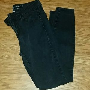 American Eagle faded black Hi-Rise Jegging